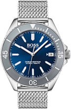 Hugo Boss  Watch, Ocean Edition with Luminova technology, Blue Dial and mesh bracelet