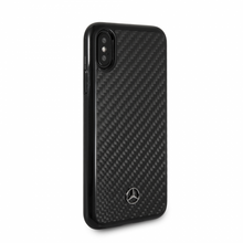 "Mercedes, Case for iPhone X, Collection ""DYNAMIC"" , Real Carbon fiber, Glossy Black"