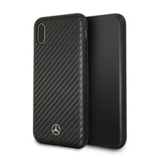 "Mercedes, Case for iPhone X, Collection ""DYNAMIC"" , Real Carbon fiber, Matt  Black"