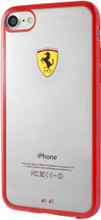 "Ferrari , SHOCKPROOF  Case case for iPhone 8/7, collection ""Racing Shield "",  Bi-Material,  Red Bumper"