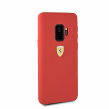 Ferrari, Phone Case for Samsung S9, Silicone , Real Microfiber - Red