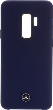 Mercedes , Case for Samsung S9+, LIQUID SILICON  with microfiber lining,  Navy