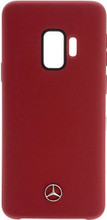 Case for Samsung S9, Mercedes , LIQUID SILICONE  With Microfiber Lining,  Red