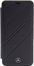 "Mercedes , BookCase for Samsung S9+, collection ""NEW ORGANIC I "",   Genuine leather,  Navy"