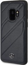 "Case for Samsung S9, Mercedes, Collection ""NEW ORGANIC I "",  Genuine Leather, Navy"