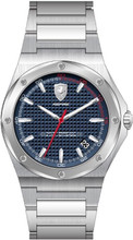 Scuderia Ferrari,  Aspire Mens Watch,  Polished Stainless Steel Case and,  Blue enamel  Dial
