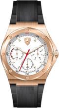 Scuderia Ferrari, Aspire Mens Watch, Brushed Rose Gold Case,  White enamel  Dial