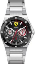 Scuderia Ferrari,  Aspire Mens Watch,  Brushed Stainless Steel Case, Black enamel textured Dial