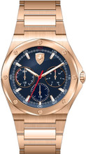 Scuderia Ferrari, Aspire Mens Watch,  Brushed Rose Gold plated  Case, Black enamel Dial,  Rose Gold plated Bracelet