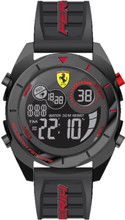 Scuderia Ferrari, ( New 2018 Summer collection ), Forza Digital Mens Watch,  Gloss Black ABS Case, Black matte dial with red details Black silicone strap with red detail,    45mm