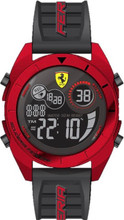 Scuderia Ferrari, ( New 2018 Summer collection ), Forza Digital Mens Watch, Gloss Red ABS Case, Black matte dial with red details, Black silicone strap with red detail, 45mm