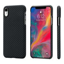 "Pitaka, Aramid case  for iPhone Xr ( 6.1""), Black/Grey, Made of 100% real Aramid"
