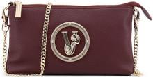 Versace Jeans, Clutch Bag, with removable shoulder strap, Burgundy