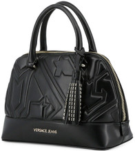 Versace Jeans, HandBag, embossed ornament, Black