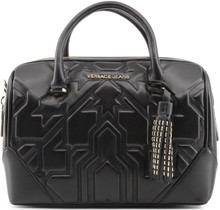 Versace Jeans, HandBag, embossed ornament 2, Black