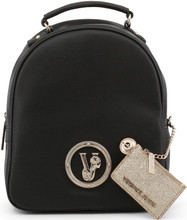 Versace Jeans, front logo Backpack, Black
