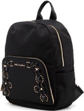Blu Byblos, Backpack, with front pocket, Gold tone logo, Black