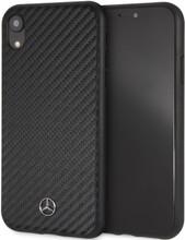 "Mercedes, Case for iPhone Xr, Collection ""DYNAMIC"" , Real Carbon fiber, Black"