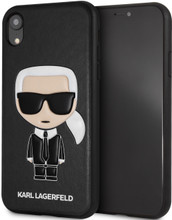 Karl Lagerfeld, Case for iPhone Xr, Iconic Karl Embossed, Black