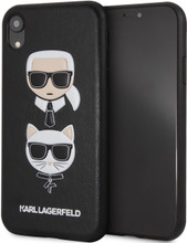 Karl Lagerfeld, Case for iPhone Xr, Karl and Choupette, Black