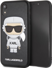 Karl Lagerfeld, Case for iPhone Xr, Karl Space, Cosmonaut,  Black