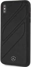 "Mercedes , Case for iPhone Xr, collection ""NEW ORGANIC I "", Genuine leather, Black"