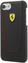 FERRARI - SF PIT STOP HARD CASE for iPhone 8/7  - Carbon ,  BLACK