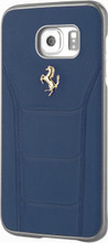FERRARI - 488 -  Case for Samsung Note 5  -  Genuine Leather - ( Blue ) GOLD LOGO