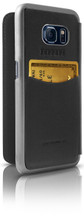 """Booktype, Ferrari """"488"""" Collection for Samsumg S7, Genuine Leather, Black. back view"""