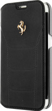 FERRARI 488 - Booktype Case FOR SAMSUNG Note 5 -  Genuine Leather -  ( Black ) GOLD LOGO