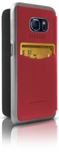 """Booktype, Ferrari """"488"""" Collection for Samsumg S7, Genuine Leather, Red. back view"""