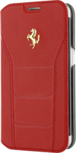 FERRARI 488 - Booktype Case FOR SAMSUNG Note 5 -  Genuine Leather -  ( Red ) GOLD LOGO