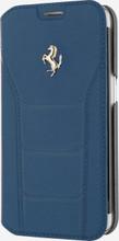 FERRARI 488 - Booktype Case FOR SAMSUNG S7 -  Genuine Leather -  ( Blue ) GOLD LOGO