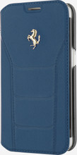 FERRARI 488 - Booktype Case FOR SAMSUNG Note 5 -  Genuine Leather -  ( Blue ) GOLD LOGO