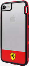 """Ferrari , SHOCKPROOF  Case case for iPhone 8/7, collection """" Racing Shield """",  Bi-Material ,   Stripe & Red"""