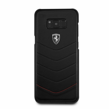 "Ferrari  Phone Case for Samsung Galaxy S8 Plus, collection ""Heritage"", Genuine leather Quilted, Black"