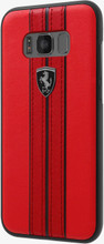 """Ferrari Case for  Samsung Galaxy S8 Plus , Collection """"Urban"""",  Off Track Logo ,Red"""