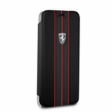 "Ferrari Book Case for  Samsung Galaxy S8 , Collection ""Urban"",  Off Track Logo ,Black"