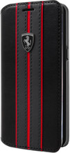 "Ferrari Book Case for  Samsung Galaxy S8 Plus , Collection ""Urban"",  Off Track Logo ,Black"