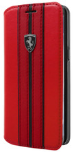 """Ferrari Book Case Phonecover  for  Samsung Galaxy S8, Collection """"Urban"""",  Off Track Logo , Red"""