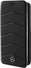 Booktype, Mercedes-Benz WAVE III for Samsung S8 Plus, Genuine Leather, Black.