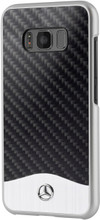 "Mercedes-Benz , Case for  Galaxy S8 , collection "" Wave V "" , Carbon Fiber & Brushed Aluminium ,  Black"