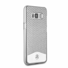"Mercedes-Benz , Case for  Galaxy S8 , collection "" Wave V "" , Carbon Fiber & Brushed Aluminium ,  Silver"