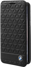 BMW ,  Booktype Case  for  Samsung Galaxy S8 Plus ,  Signature collection ,  Embossed Hexagon - Black