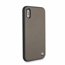 BMW, Case for iPhone X, Genuine Leather  - Mocca
