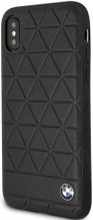 BMW , case for iPhone X, Genuine Leather , Hexagon - Black