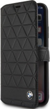 BMW , Book-case for iPhone Xs/X , Genuine Leather , Hexagon - Black