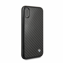 BMW , Case for  iPhone X ,  Real Carbon Fiber , Black