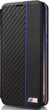 BMW, Book-Case for iPhone Xs/X ,  Bi-Material Carbon  - Navy