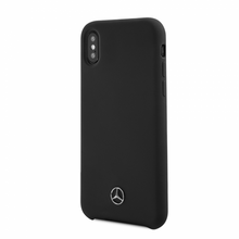 Mercedes , Case for iPhone X, LIQUID SILICON  with microfiber lining - Black
